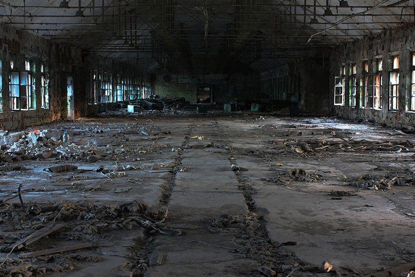 Бывший заводской цех, вкотором был обнаружен объект