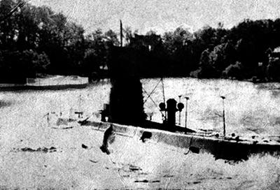 Одна из первых фотографий SCP-1861-A на поверхности небольшого искусственного водоёма.