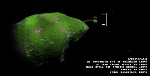 """Фотография астероида ███ ██████, _сделанная с соседнего астероида. _Выделена """"семенная"""" ветвь. _Снимок сделан 18 ноября 19██."""