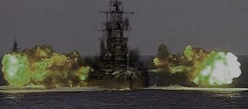 "SCP-2846-B в ходе взаимодействия с SCP-2846-A. На заднем плане видно сопровождающее судно Фонда ""Пристин""."