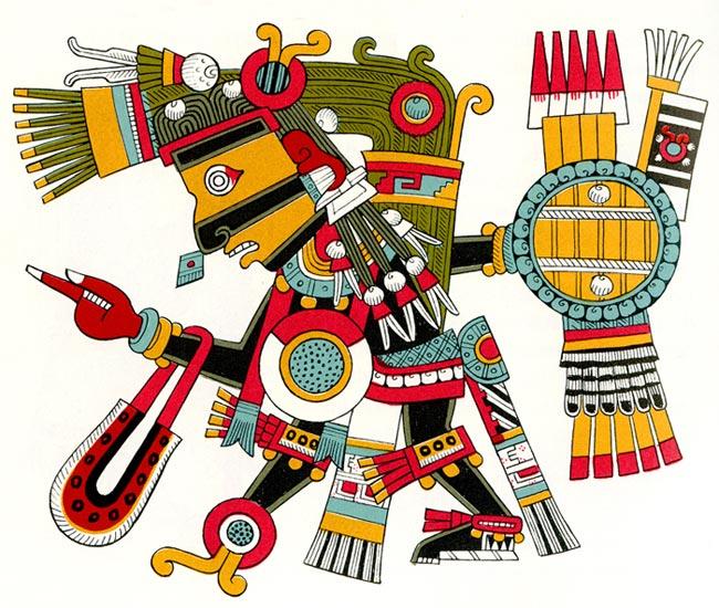 Репродукция изображения, упомянутогов исследовании д-ра Головкина.Обратите внимание на мерцающую сферуна груди божества.