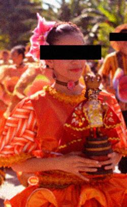 Фотография агента Малано, сделанная во время выполнения процедуры-парада по содержанию в 1983 году. width=250px