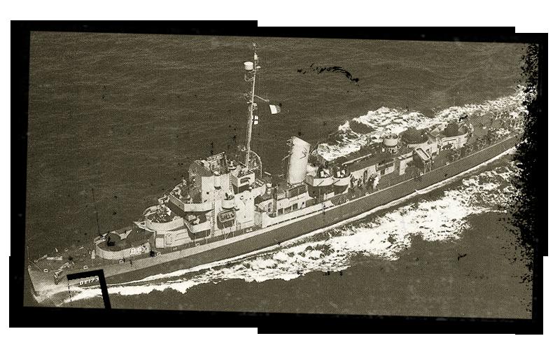 SCP-595 на боевом дежурствев Тихом Океане, 1944